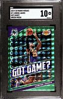 LEBRON JAMES Got Game? 2019-20 Panini Mosaic Green Mosaic Prizm #7 SGC GEM MINT