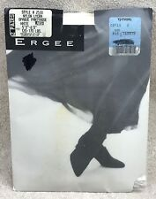 """Ergee White Opaque Pantyhose Size Large 2 Pairs #2530 5'3""""-6'0"""" 120-170 lbs."""