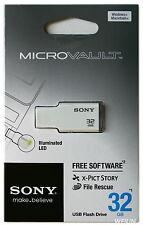 SONY 32 GB USB 2.0 Micro Vault Tiny USB Flash Drive KEY 32G White Pink Green
