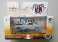 1965 SILVER BLUE FORD MUSTANG M2 Machines DETROIT-MUSCLE Diecast 1/64 R37