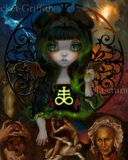 Jasmine Becket-Griffith art print dark fairy angel SIGNED Unseelie Court: Envy