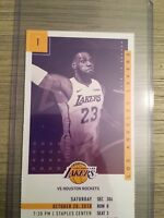 2018-19 Los Angeles Lakers NBA Official Ticket Stubs pick any game! Lebron James