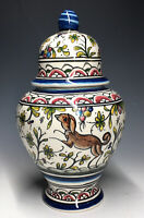 Nazari Portugal Faience Pottery Ginger Jar 17th C. Ming Coimbra Reproduction