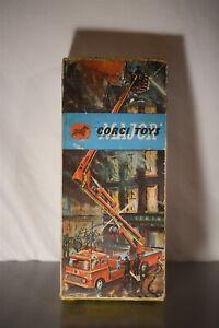 Vintage Corgi Major Toys 1127 Simon Snorkel Fire Engine W/box Diecast Truck