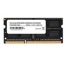 1x 4GB DDR3 Samsung Notebook RAM Laptop 1066 Mhz SO DIMM PC3-8500S Speicher