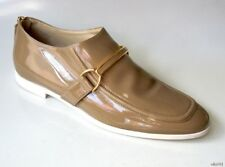 4e30a51ac247f STELLA MCCARTNEY loafers Morgana tan patent buckled bar shoes 39.5 9.5 new  $550