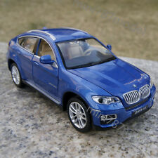 BMW X6 Model Cars 1:32 Collection&Gifts Toys Sound&Light Alloy Diecast Blue New
