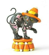 "Jim Shore Mini Black Candy Corn Cat - (Approx 3.5"" Tall) FREE SHIPPING"