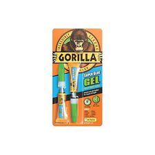 GORILLA SUPER GLUE GEL 2 X 3G TUBES IMPACT TOUGH QUICK SETTING LEATHER METAL