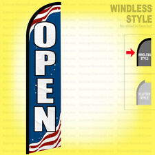 Open Windless Swooper Flag 25x115 Ft Tall Feather Banner Sign Patriotic Bf