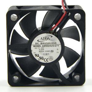 ADDA AD5024US-C71 24V 0.20A 5CM 5020 2-pin Inverter cooling fan