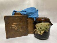 Japanese Antique KORO Oribe ware Kenzan Incense Burner (b332)
