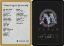 1x Decklist - Shawn Hammer Regnier - 1996 NM-Mint, English World Championship Ca