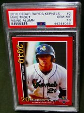 PSA 10 Gem Mint-MIKE TROUT- 2010 Cedar Rapid Kernels Rookie Baseball Card #2 RC$