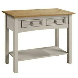 Mercers Furniture Corona Wax 2 Drawer Console Table - Grey (2TONE104)