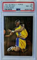 Rare! 1997-98 Skybox Z-Force Super Boss Kobe Bryant #3, Parallel, Graded PSA 8