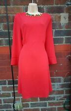Ladies Red fit and flare tea dress size 18 strechy
