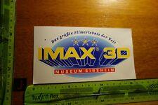 Edad pegatinas película vídeo cine IMAX 3d museo Sinsheim