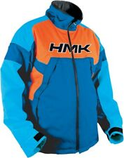 HMK Superior Mens Weatherproof Insulated Snowmobile Jacket Blue/Orange Large