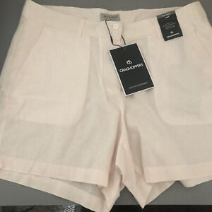 Craghoppers Pink Pinstripe Shorts Size 12 New Tags RRP £40 Adventure Fit Linen