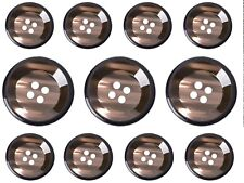 11 Brown/Coffee Costume Sewing Buttons Set for Suit  Jackets, Blazer, Sport Coat