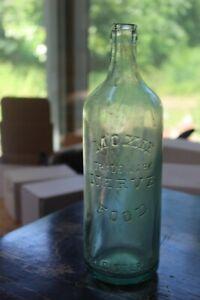 "Vintage Moxie Nerve Food Glass Soda Bottle 10 1/2"""