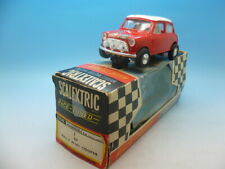 Scalextric C7 Rally Mini Cooper rarer non roof light in Red Race Tuned box, supe
