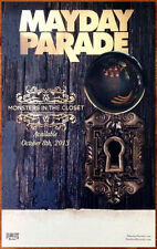 MAYDAY PARADE Monsters In The Closet 2013 Ltd Ed RARE Poster +FREE Rock Poster!