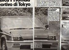 Z46 Ritaglio Clipping 1983 Honda Ballade Sports CR-X