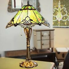 Table Lamps For Living Room Victorian Tiffany Style Sea Green Crystal Lace 25 In