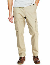 BNWT mens M&S COLLECTION Pure Cotton Utility Cargo Trousers Stone W30 L31