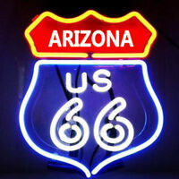 """11""""x9""""ARIZONA State 66 Historic Route Neon Sign Light Beer Bar Pub Wall Hanging"""