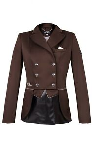 SALE!!Fair Play Beatrice Short Tail Dressage Jacket in Brown Size: EU38/UK10/US8