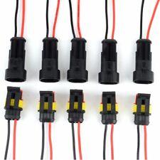 10x 2 polig KFZ Stecker Steckverbindung Steckverbinder Auto Wasserdicht Kabel