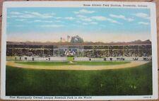 Bosse Baseball Stadium - Evansville, Indiana IN 1940s Postcard