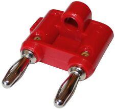 Fiche double prise banane mâle/femelle rouge 4mm 15A 70V DC connecteur