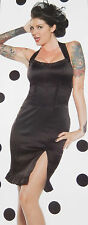 LIP SERVICE PIN ME UP BLACK/RED HALTER DRESS M 83-6-08