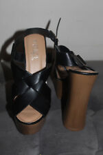 Rouge Helium Women's Black / Brown Open Toe High Heels Size 8