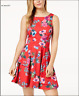 Speechless Juniors Printed Asymmetrical Tiered Fit & Flare Dress