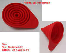 New Silicone Small Collapsible Funnel silicon Kitchen - RED