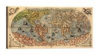PAOLO FORLANI mappa antica Stampa su tela Canvas effetto dipinto