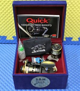 D.A.M Quick Spinning Reel W/Spare Spool Limited Edition Box Quick 1000FD