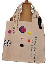 RARE SIGNED MARC JACOBS CREME TOTE BAG WITH BADGE PINS -FOR DAISY FRAGRANCE