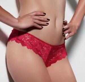 Kayser Brazilian Bikini Panties Size 16 Sexy Lace Lingerie Underwear Siren Red