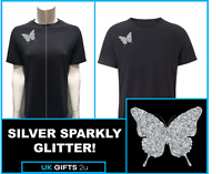 Spider Brooch Lady Hale T-Shirt Silver Glitter Sparkly Brexit Boris Johnson