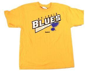 Reebok NHL Youth Boys St. Louis Blues Hockey Shirt NWT L, XL