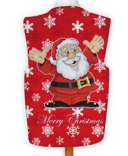 Christmas Novelty Waistcoat Fun Fancy Dress Informal Cartoon Santa Snowflake X Large 48-50-52 Red