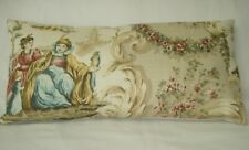 """Beige Shades Oriental Toile Lumbar Accent Decorative Throw Pillow Cover 9""""x18"""""""