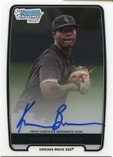 2012 Bowman DP&P Chrome Keon Barnum On Card Autograph Chicago White Sox