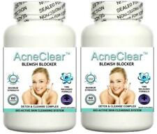 2x Acne Clear Pills Clear Skin Blemishes Scars Detox Spots Zits Hormonal Balance
